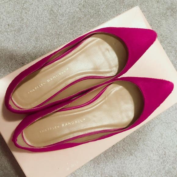 Loeffler Randall Shoes - Loeffler Randall Milia Calf Hair Flat 6.5, Magenta